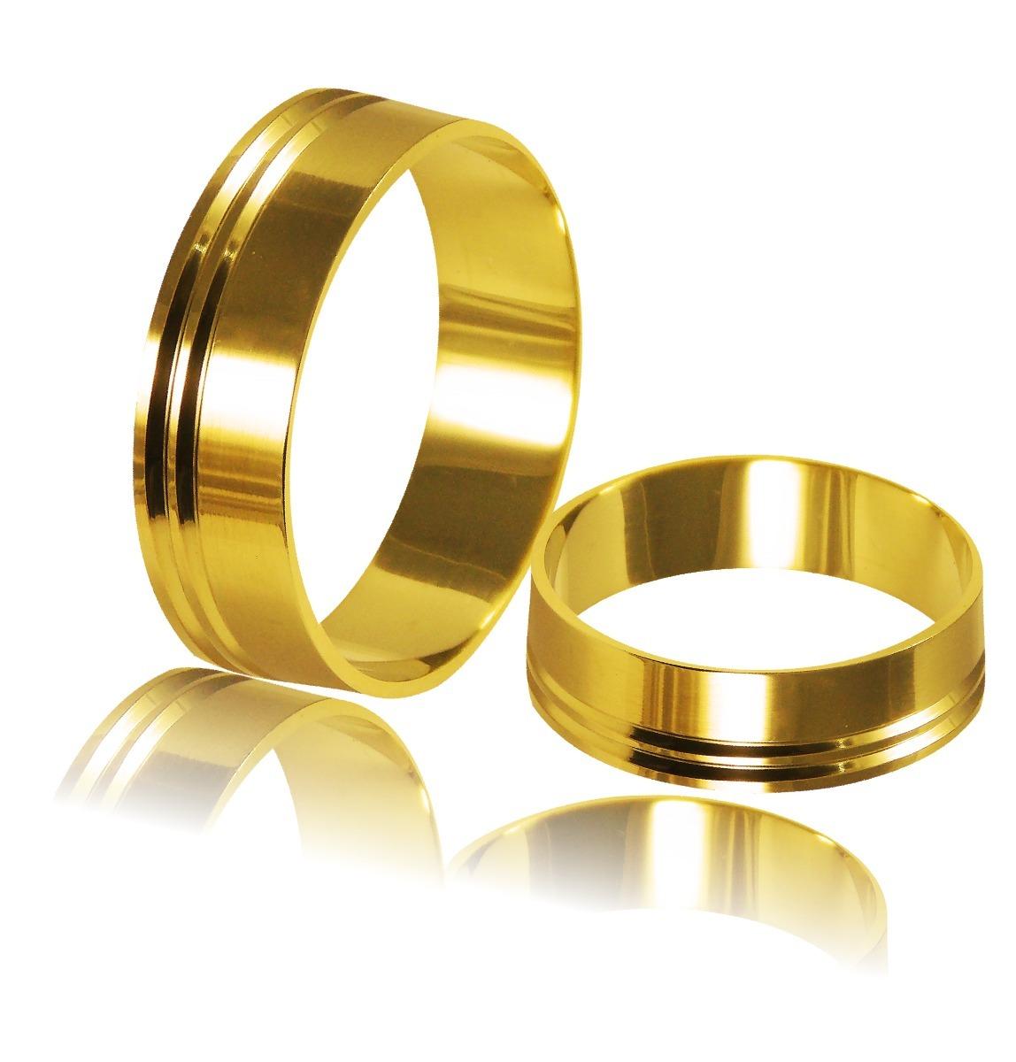 Aliança Ouro 18k (750) 5,4mm Larg. 7gr Par Al 037 - R  1.270,00 em Mercado  Livre 5a6f53c871