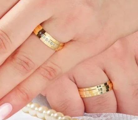 aliança personalizada casamento e noivado moeda antiga 8mm