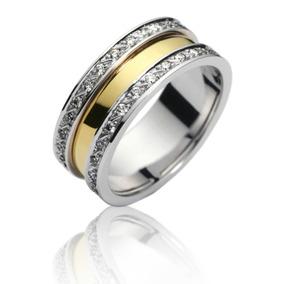 8294cc9cc475c Par De Alianças Em Ouro Amarelo E Ouro Branco Diamante - Alianças no ...