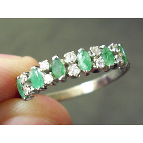 93d5cf0094dab Meia Alianca Dupla Esmeralda Diamante - Joias e Relógios no Mercado ...