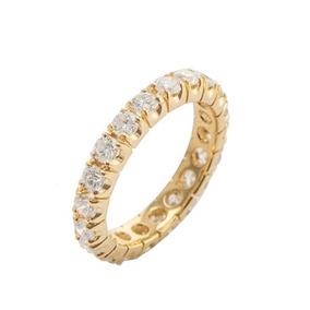 50f0211c8be18 Joias H Stern Anel Conj. Aliança De Diamante E 2 Aparadores - Joias ...