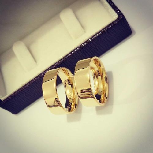 alianças baratas de noivado casamento banho de ouro