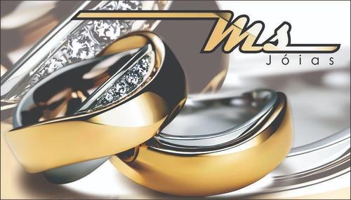 alianças casamento ouro 18k 30 gramas + certificado