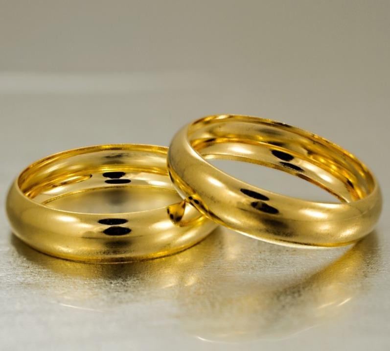 fe436e2a3d6 Alianças Casamento Ouro 18k Noivado Barata Lisa Redonda - R  649