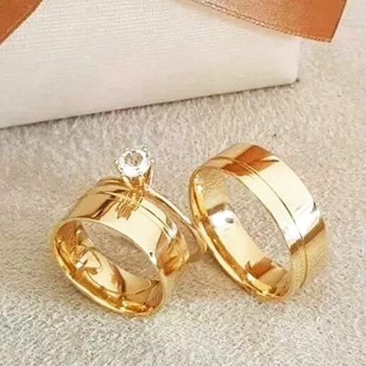 e4d652d19e9 Alianças Casamento noivado Ouro 16k 7mm Promoção - R  960