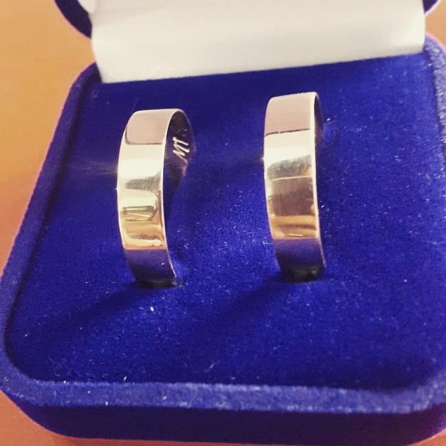 ab888fe167e Alianças Casamento noivado Ouro 16k Garantia - R  380