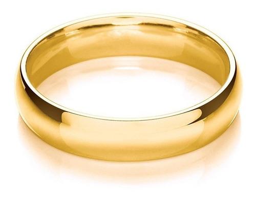 alianças de casamento ouro 18k 10 gramas 6mm tradicionais