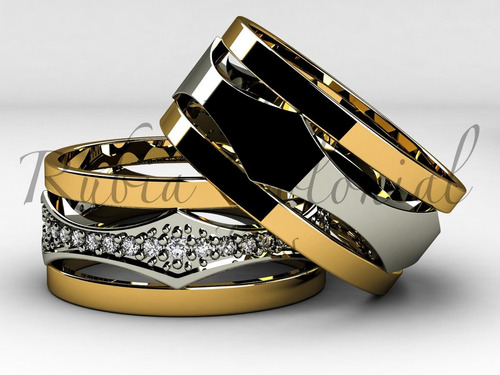 alianças de casamento ouro 18k, noivado
