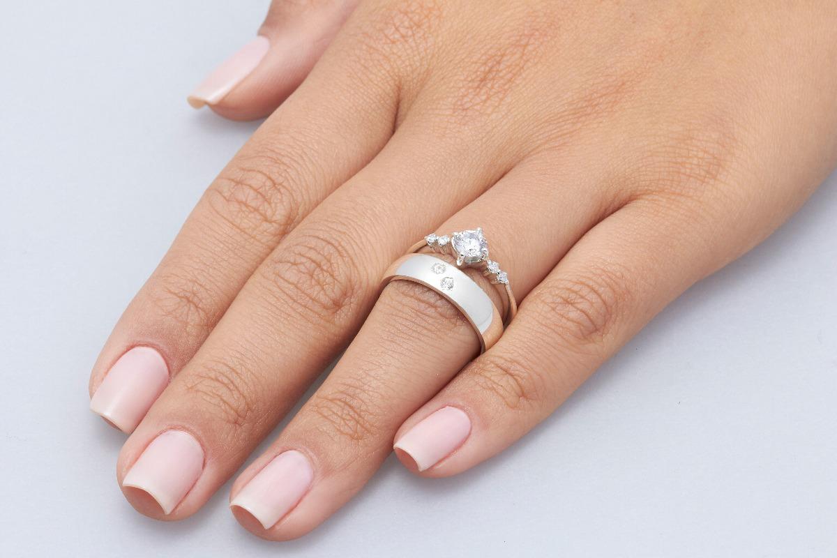 933d0b6864e Alianças De Compromisso Namoro Noivado Casamento Top Three - R  360 ...