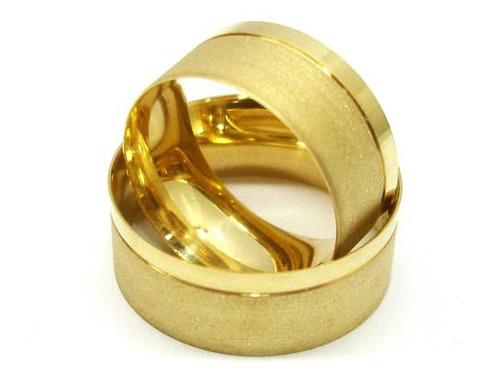 alianças de moeda antiga 6mm casamento & noivado c/gravação