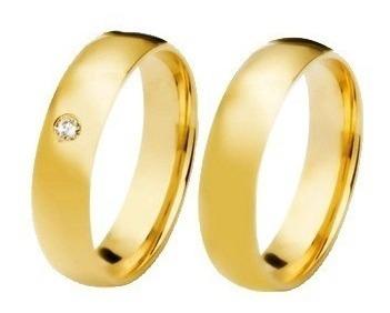 alianças de ouro 18k 4mm 5 gramas com diamantes casamento