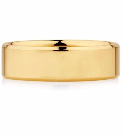 alianças de ouro 18k modelo reta 5mm 14 gramas anatomicas