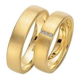 Alianças De Ouro E Ouro Branco 10 Grs.com Diamantes J R.