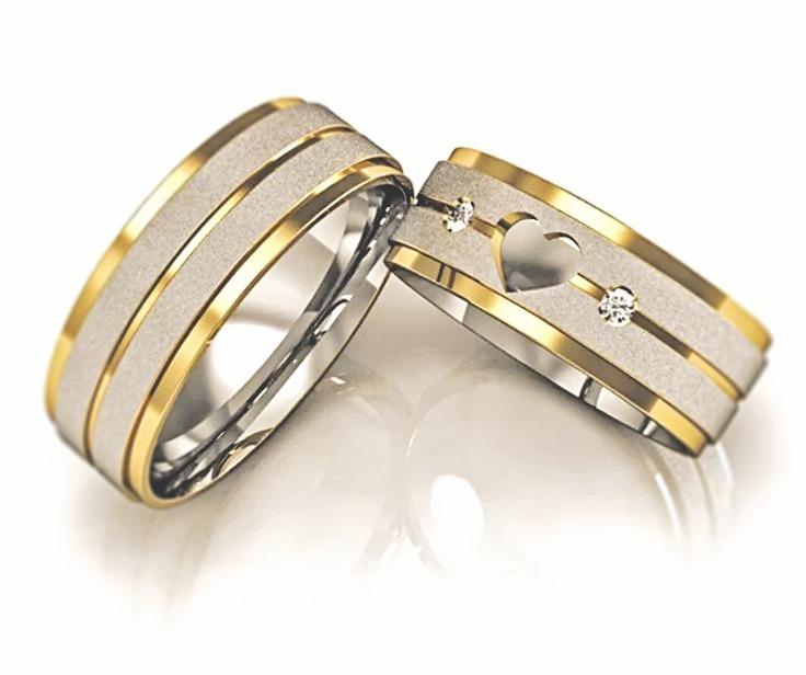 32df3abdcfd Alianças De Ouro Prata Casamento Noivado Namoro Ouro 18k - R  198