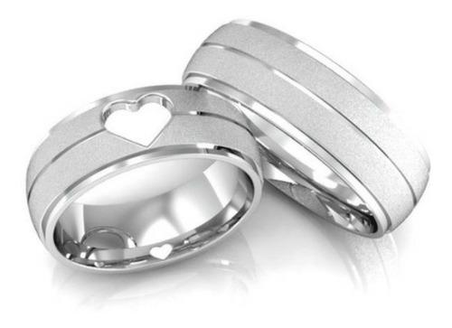 alianças de prata 6mm coração com gravações+frete grátis
