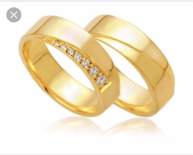 ab01aa6ea46 Alianças Em Ouro 18k E 16k E Em Pura Prata - R  960