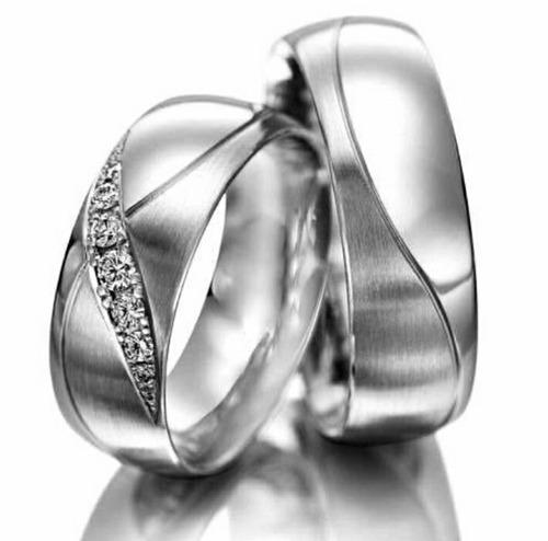 alianças em prata