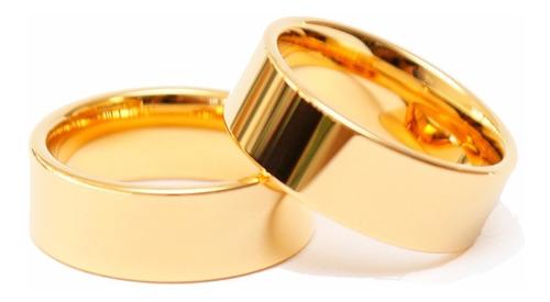 alianças namoro noivado compromisso 6mm retas lisas aço inox