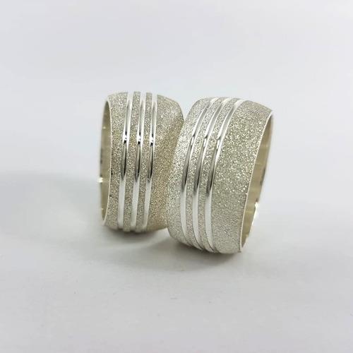 alianças namoro prata 950 preço de fábrica 10mm 18gr grossa