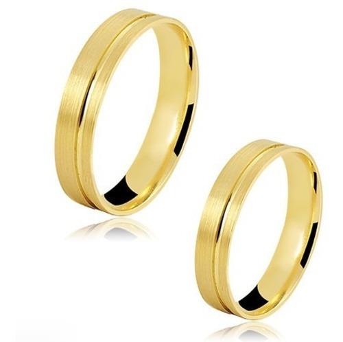 alianças ouro 18k noivado casamento