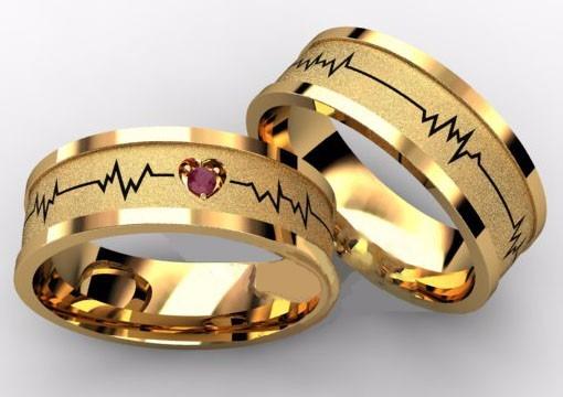 eaf4eaf1500 Alianças Ouro 18k Retas Batimento Cardíaco 7mm 14gr 1 Rubi - R ...