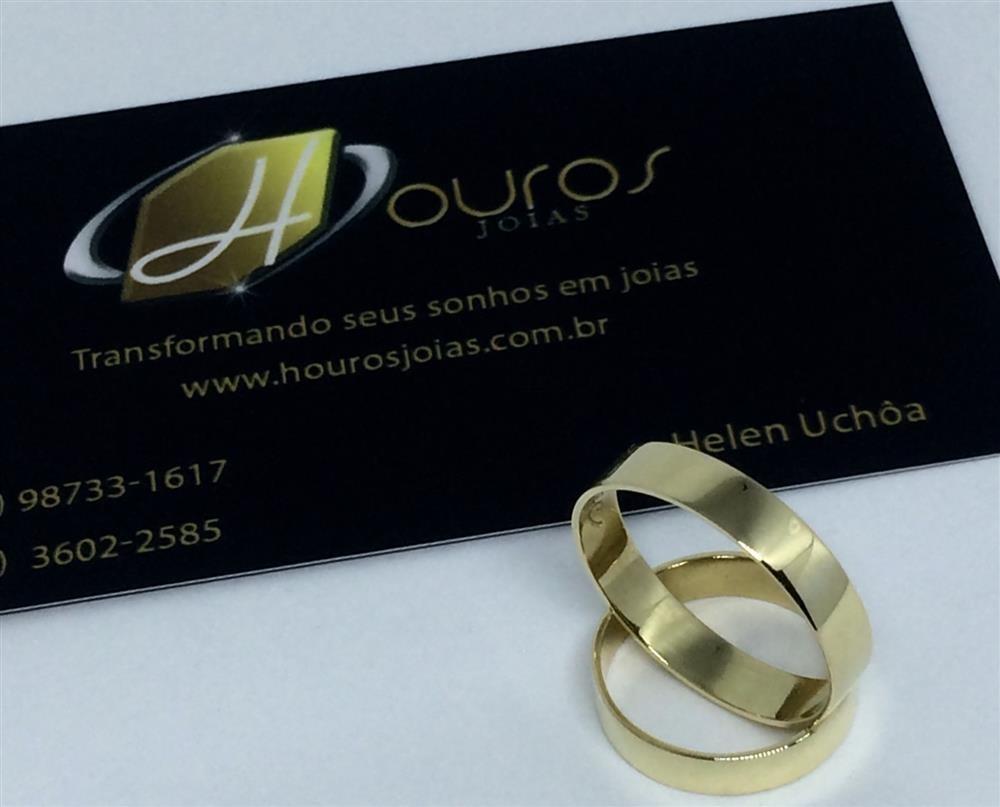 054ecb6d715 par de alianças de ouro 18k 5g 4mm quadrada polida casamento · alianças ouro  casamento. Carregando zoom.