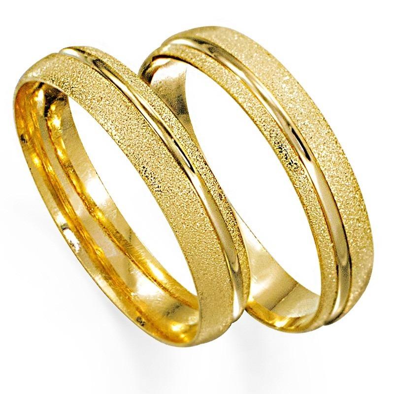 2f458990317c5 Par Alianças Ouro 18k 750 Anatômica 5 Gramas Canal Casamento - R ...