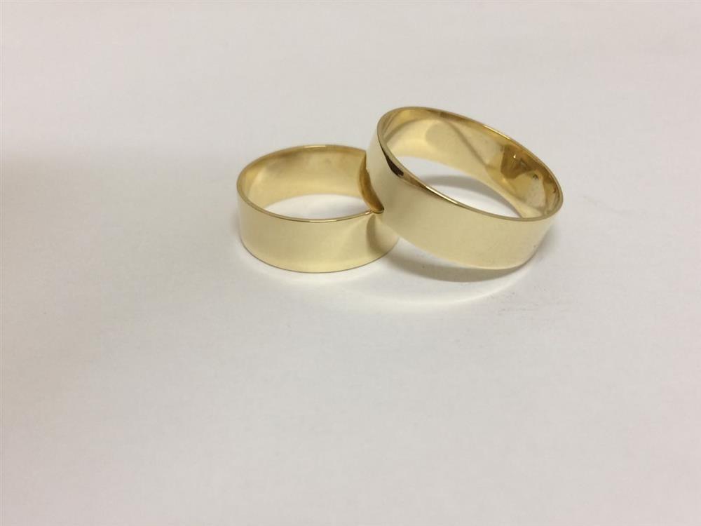 691122feed3 Par De Alianças Ouro 18k Casamento 6mm 6g Reta Polida - R  1.499