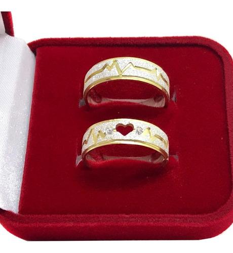 alianças prata 950 cardiaco ouro 18k compromisso e namoro