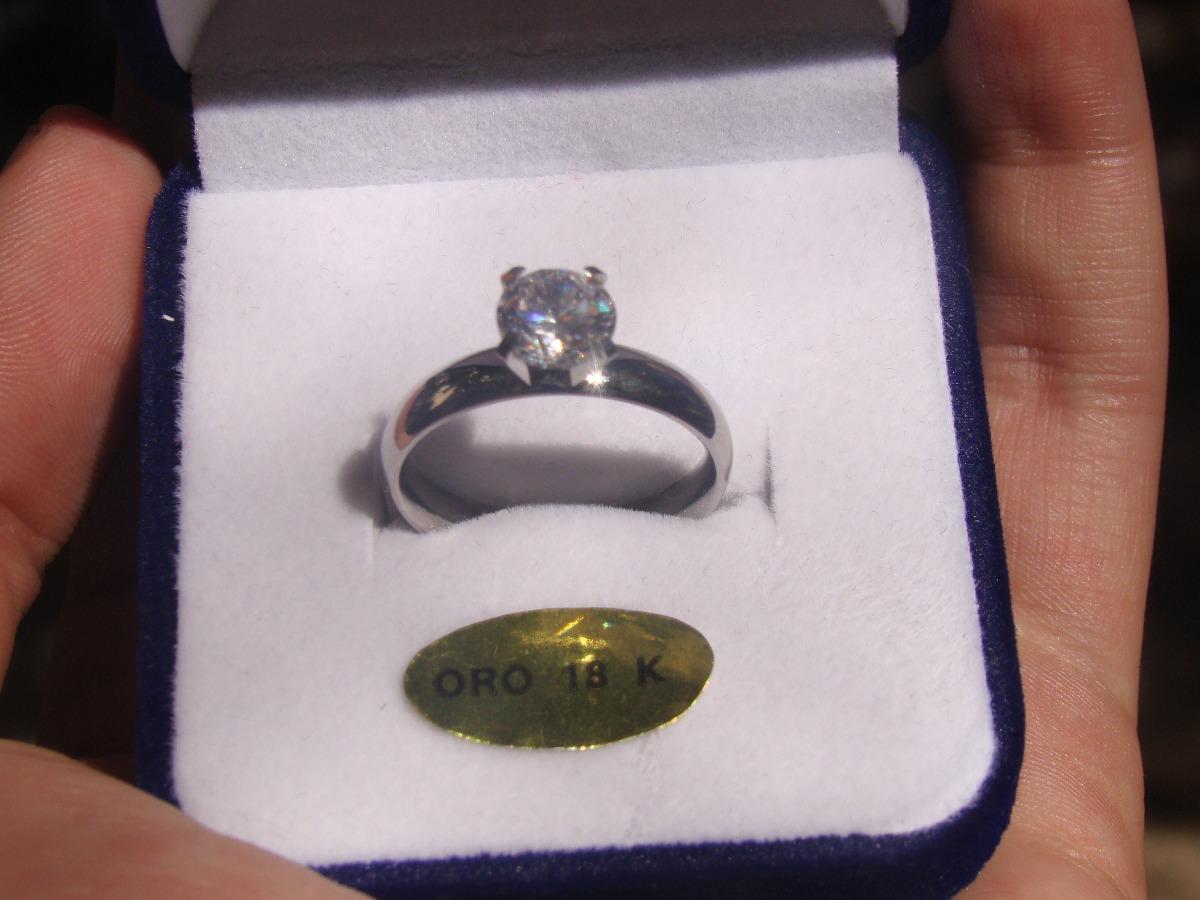 f2d6eb3a220d alianza anillo compromiso con piedra svarowsky oro blanco 18. Cargando zoom.