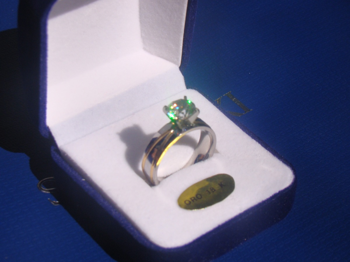 4f529d5099c4 alianza anillo compromiso oro 18k y oro blanco 18k zircon. Cargando zoom.