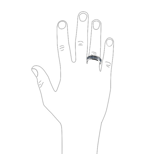 alianza bling jewelry con tungsteno y dragón céltico t. 13.5