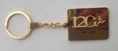 alianza lima 120 años, llavero exclusivo de colección