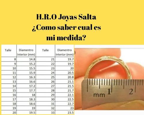 alianza oro 18 kts. / 3 grs / 4 mm ancho / precio por unidad
