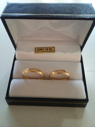 alianzas 18k 6gramos,casamiento. con certificado