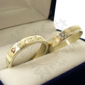2de26b63f80f Alianza Anillo Casamiento Oro Trabajados - Joyas y Bijouterie en ...