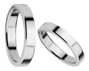 diseño de calidad 604e3 72871 Alianzas Casamiento Acero Quirúrgico 2 Anillos Cinta