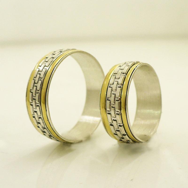c6ec4eb25674 alianzas casamiento plata 925 oro anillos de compromiso. Cargando zoom.