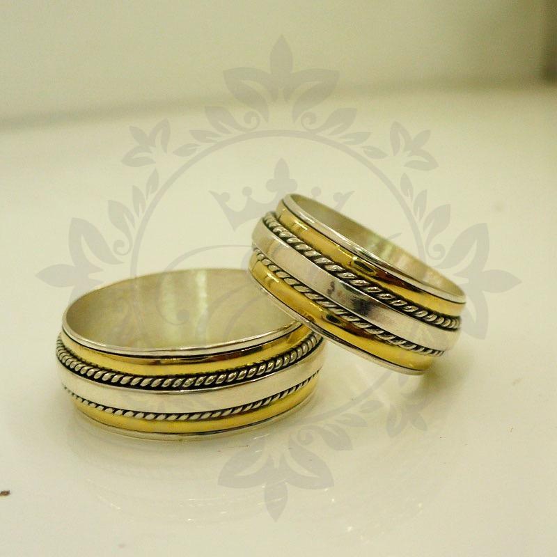 ee67cc2e9658 alianzas casamiento plata 925 oro - anillos para compromiso. Cargando zoom.
