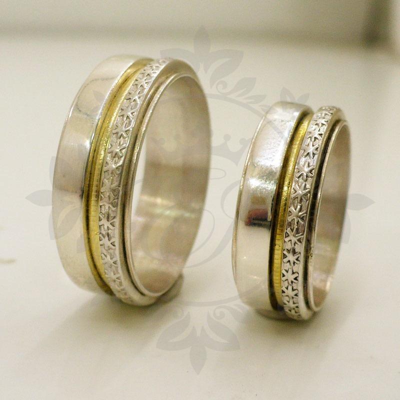 21fdc9f7ebba alianzas casamiento plata 925 oro anillos para compromiso. Cargando zoom.