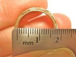 alianzas de oro 18k con circone- 8 gramos - m. j.