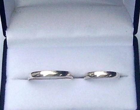 alianzas en plata 950 garantidas con grabado y estuche incl.