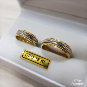 color atractivo tienda de liquidación moda atractiva Alianzas Oro 18 Kilates. Combinadas 2 Oros. Garantia!