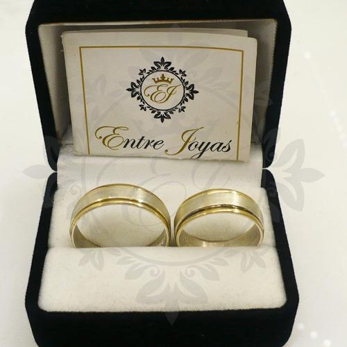 alianzas oro y plata para casamiento - anillos de compromiso