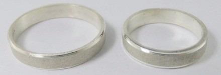alianzas plata 925 el par cinta arenada o pulida grabado gti