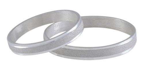 alianzas plata 925 - el par grabados sin cargo garantía escrita estuche stock el trust joyero