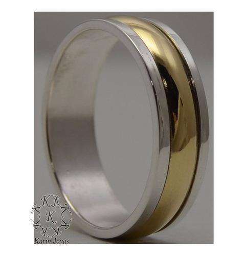 alianzas plata y oro - el par!!! grabado, estuche y garantia