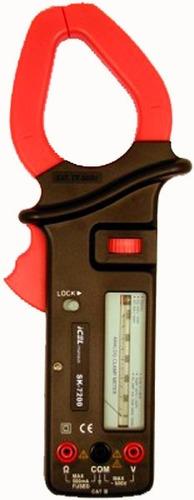 alicate amperímetro analógico icel sk-7200 resist: 5kohm