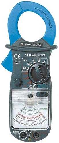 alicate amperímetro analógico minipa et-3006 garra 34mm