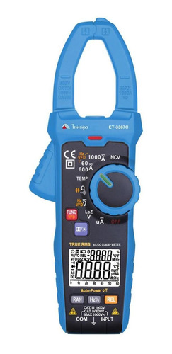 alicate amperímetro digital et-3367c minipa
